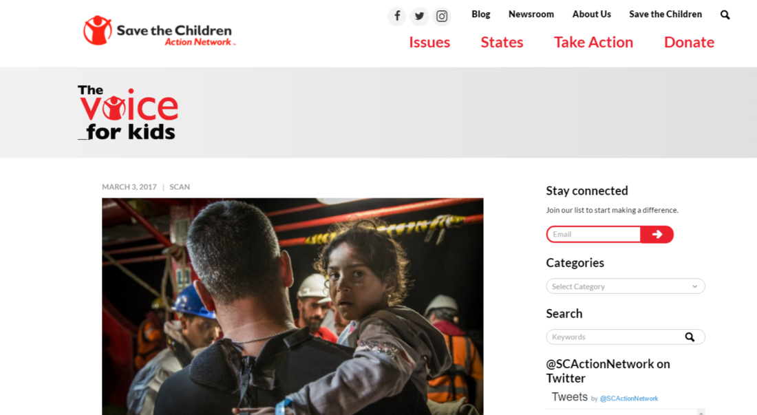Save the Children Action Network blog