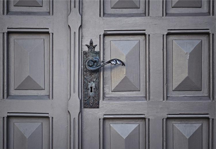 grey-door